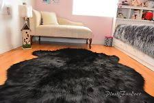 shag flokati faux animal skin leather fur u0026 sheepskin rugs ebay
