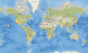 Earthquake World Map by Language Myshake App Crowdsources Earthquake Shaking