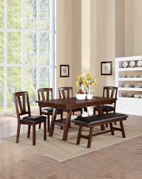 contempory dining room walnut dining room furniture dark table by poundex
