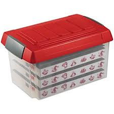 Christmas Bauble Storage Uk by Gift Wrap Storage Box Amazon Co Uk Kitchen U0026 Home