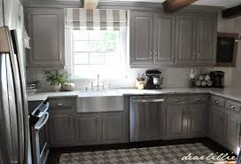 Kitchen Gray Cabinets Dear Lillie Darker Gray Cabinets And Our Marble Review