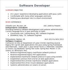 java developer resume sample computer programming job resume java