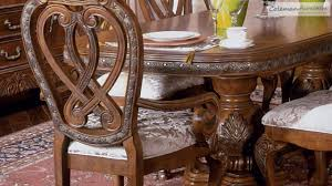 michael amini dining room eden amaretto dining room collection from aico furniture youtube