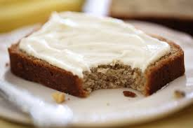 banana bread with cream cheese spread white apron blog