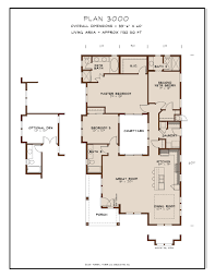 island house plans three section homes