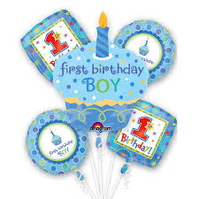 1st birthday boy cupcake birthday boy mylar party balloon bouquet