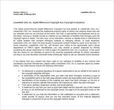 dmca notice template u2013 12 free word excel pdf format download