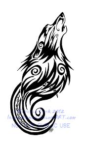 tribal swirls wolf and moon by insaneroman deviantart com
