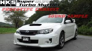 subaru gvb subaru impreza wrx sti hks super turbo muffler prototype youtube