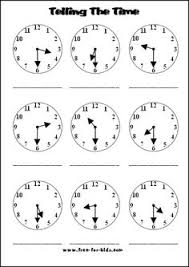 collections of free printable telling time worksheets 2nd grade