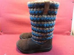 s sweater boots size 12 keen brown teal sweater boots s size 12 excellent