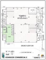 kohinoor city kurla west mumbai residential project commercial tower iii floor plan