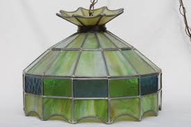 Retro Hanging Light Fixtures Impressive Stained Glass Hanging L Collectors Weekly Throughout