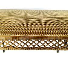 Rattan Coffee Table Mid Century Modern Rattan Coffee Table Side Table Wrought Iron