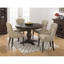 Round Dining Room Table Set by Jofran Geneva Hills 5pc Round Dining Table Set With Tufted Chairs