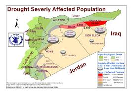 Syria War Map by Water Drought Climate Change Understanding The War In Syria