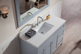 ariel hamlet 49 single sink vanity set with white quartz