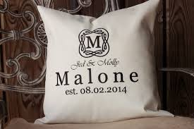 wedding pillows personalized wedding established date gift pillow