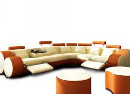 Ital Leather Sofa Sofa Orange Sectional Sofa Important Burnt Orange Sectional Sofa