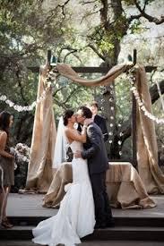 wedding arch used decorate a plain wedding arch