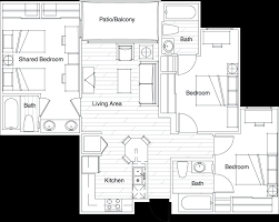 three bedroom floor plans floor plans vista sol housing tempe az