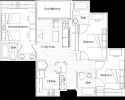 floor plans vista del sol student housing tempe az