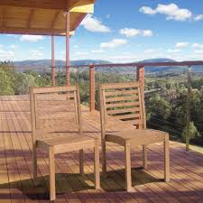 Stackable Outdoor Chair Amazonia Eucalyptus Stackable Patio Chair Set Without Arms Bt