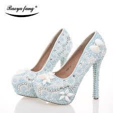 light blue womens dress shoes new arrival sea blue womens wedding shoes light blue pearl real