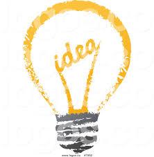 royalty free clip vector sketched idea filament light bulb