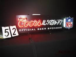 vintage coors light neon sign man cave neon blowout in minneapolis minnesota by a2c