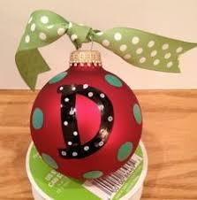 christmas ornaments with initials polka dots initials together ornaments