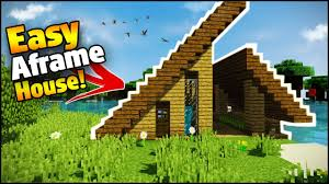 minecraft easy a frame house tutorial how to build a house in