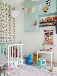wandgestaltung mädchenzimmer baby kuscheldecke caramel weich kinderzimmer babyzimmer