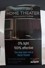 Home Theater Blackout Curtains Eclipse Lined Curtains Ebay