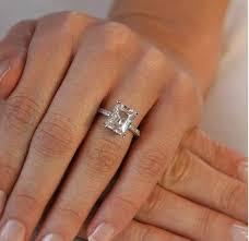 3 carat engagement ring 3 carat ring emerald cut rings