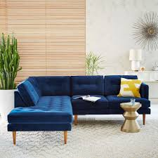 peggy mid century set 2 right arm sofa left terminal chaise