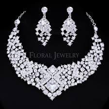 wedding necklace earrings images Czech rhinestone crystal wedding jewelry sets jewelry set jpg