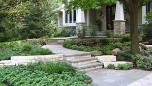 Sloped Front Yard Landscaping Ideas - sloped front yard landscape traditional with lavender themed