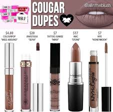 lime crime liquid lipstick dupes in the shade cougar kayy dubb
