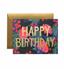 floral foil floral foil birthday greeting card by rifle paper co made in usa