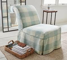 slipcovered chair leigh slipcovered slipper chair pottery barn