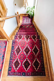 Diy Runner Rug Mix Matched Patterns Diy Stair Runner Made With Vintage Rugs