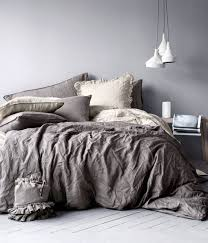 Comfortable Comforters Vintage Washed Belgian Linen Bedding Collection Love The Look Of