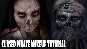 pirates of the caribbean cursed pirate makeup tutorial youtube