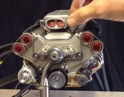 1 4 scale v8 engine built entirely on manual mills and lathes the