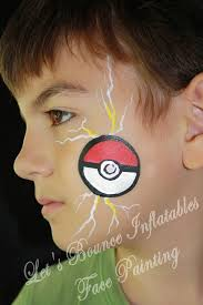 simple cheek painting ideas vancouver face painting lets bounce inflatables pokeball boys face