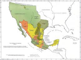Southern Mexico Map by Map Of Mexico 1786 1821