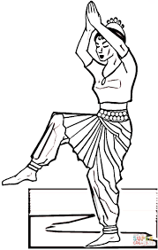 indian dance coloring page free printable coloring pages