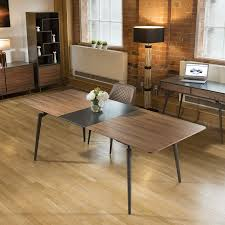 quatropi tembie extending dining table rich walnut grey 10