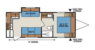 Kitchen Floor Plan Shop Rvs By Floor Plan Options Veurinks Rv Bunk House Rear